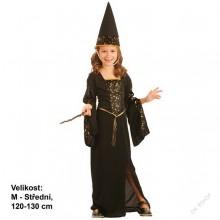 Dětský karnevalový kostým ČARODĚJNICE BRUNDIMÍRA 120 - 130cm ( 5 - 9 let )